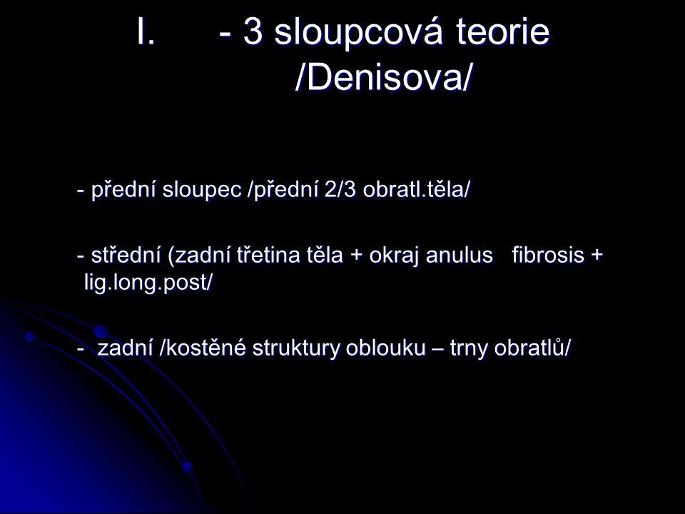 - 3 sloupcová teorie /Denisova/