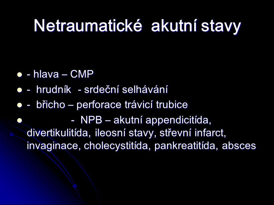 Netraumatické akutní stavy