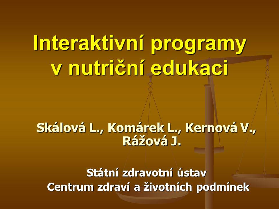 Interaktivní programy v nutriční edukaci
