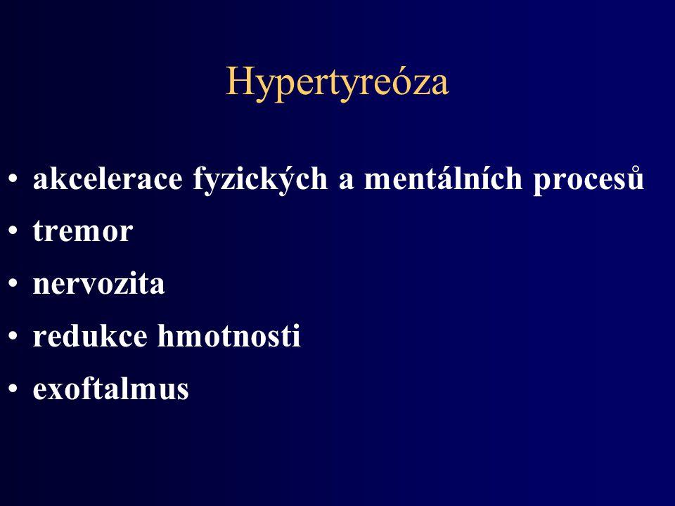 Hypertyreóza akcelerace fyzických a mentálních procesů tremor