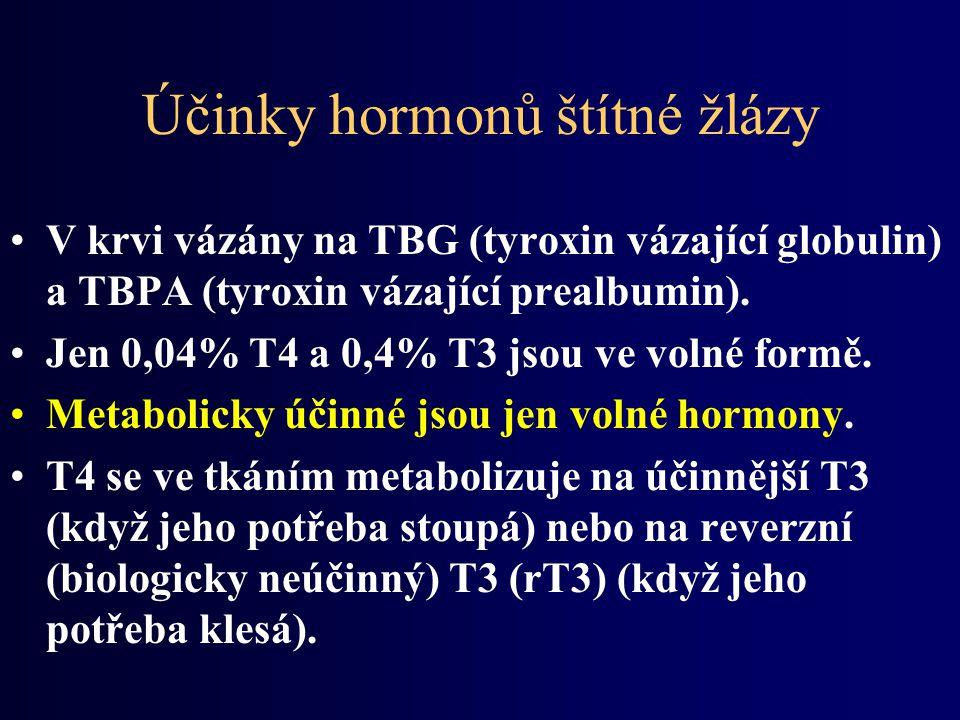 Účinky hormonů štítné žlázy