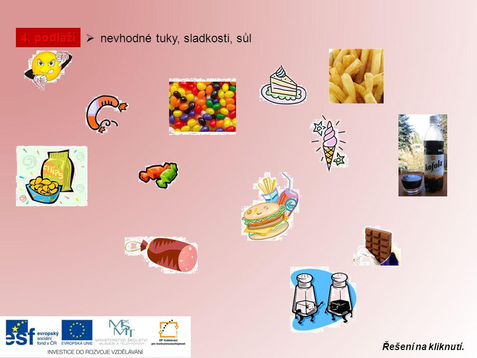 nevhodné tuky, sladkosti, sůl