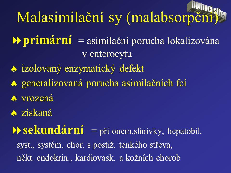 Malasimilační sy (malabsorpční)