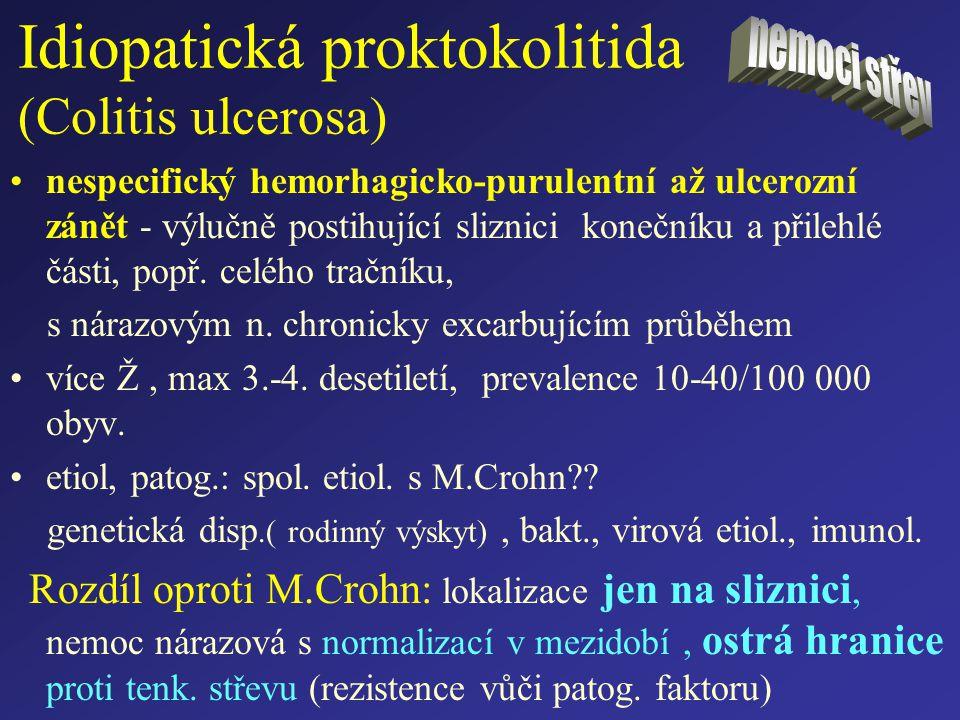 Idiopatická proktokolitida (Colitis ulcerosa)