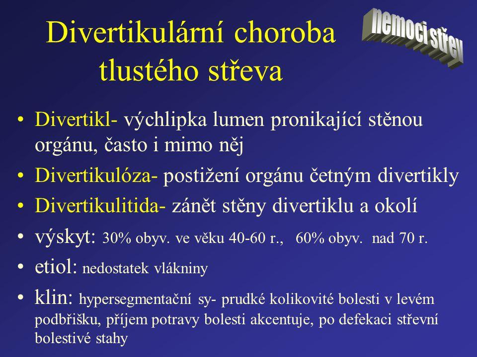 Divertikulární choroba tlustého střeva