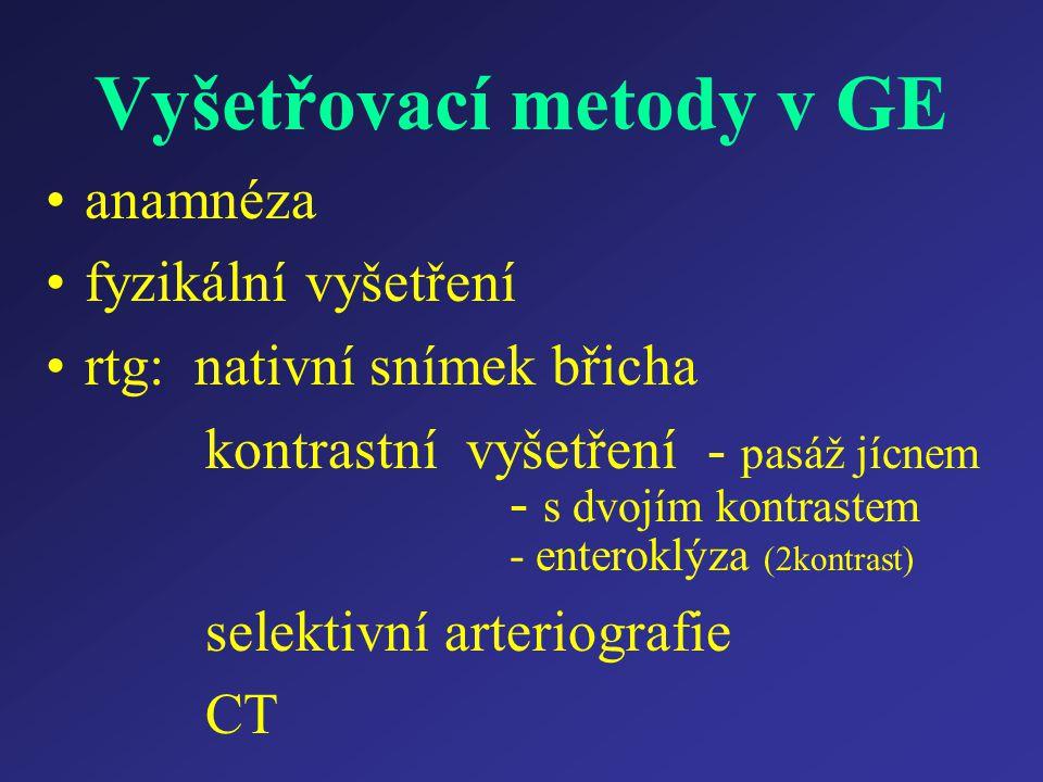 Vyšetřovací metody v GE
