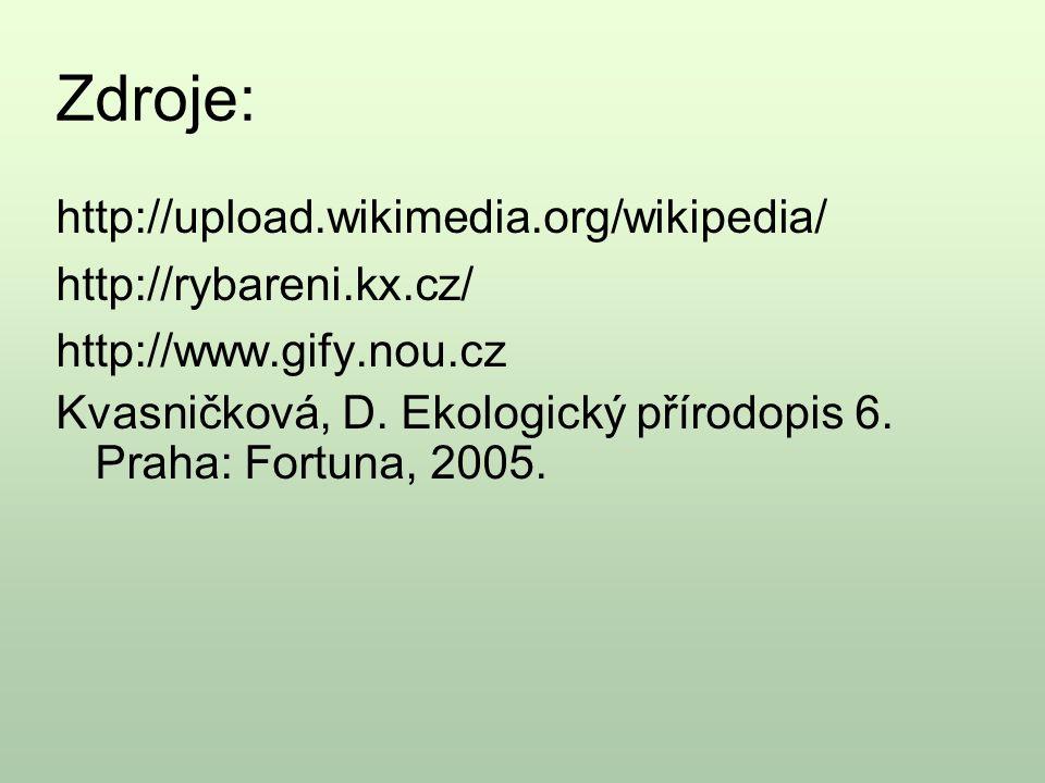 Zdroje: http://upload.wikimedia.org/wikipedia/ http://rybareni.kx.cz/
