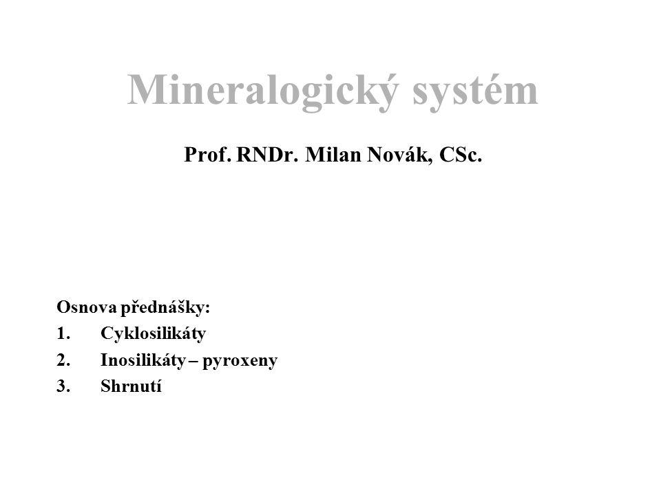 Mineralogický systém Prof. RNDr. Milan Novák, CSc.