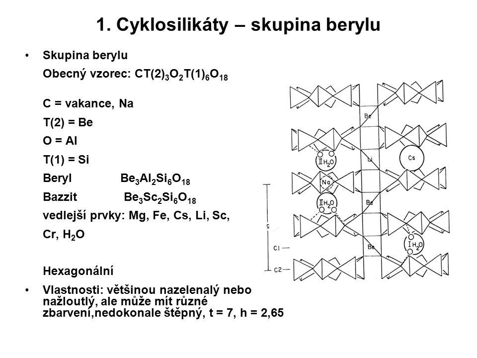 1. Cyklosilikáty – skupina berylu