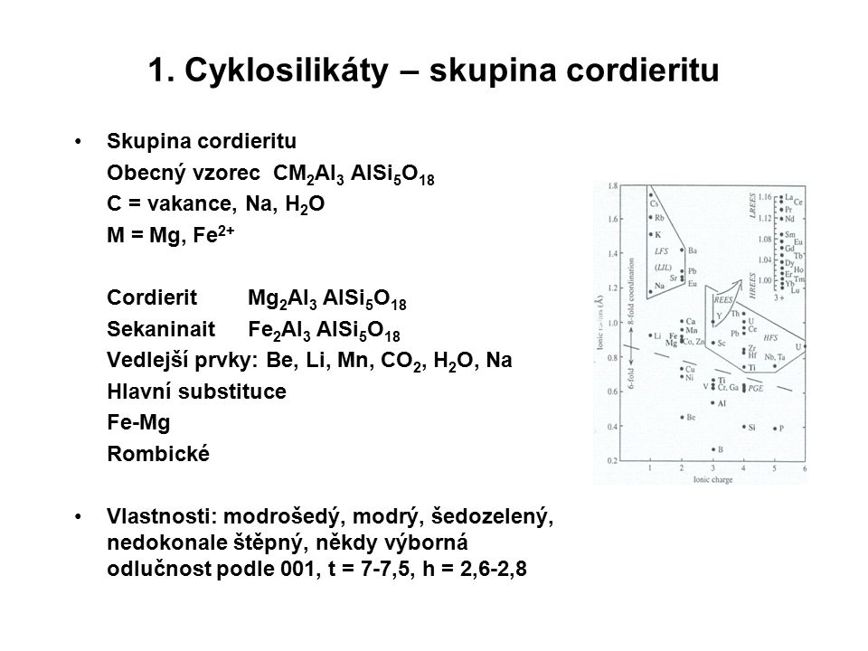 1. Cyklosilikáty – skupina cordieritu