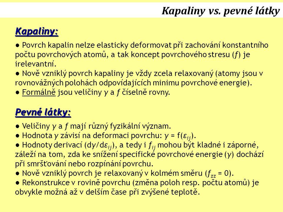 Kapaliny vs. pevné látky