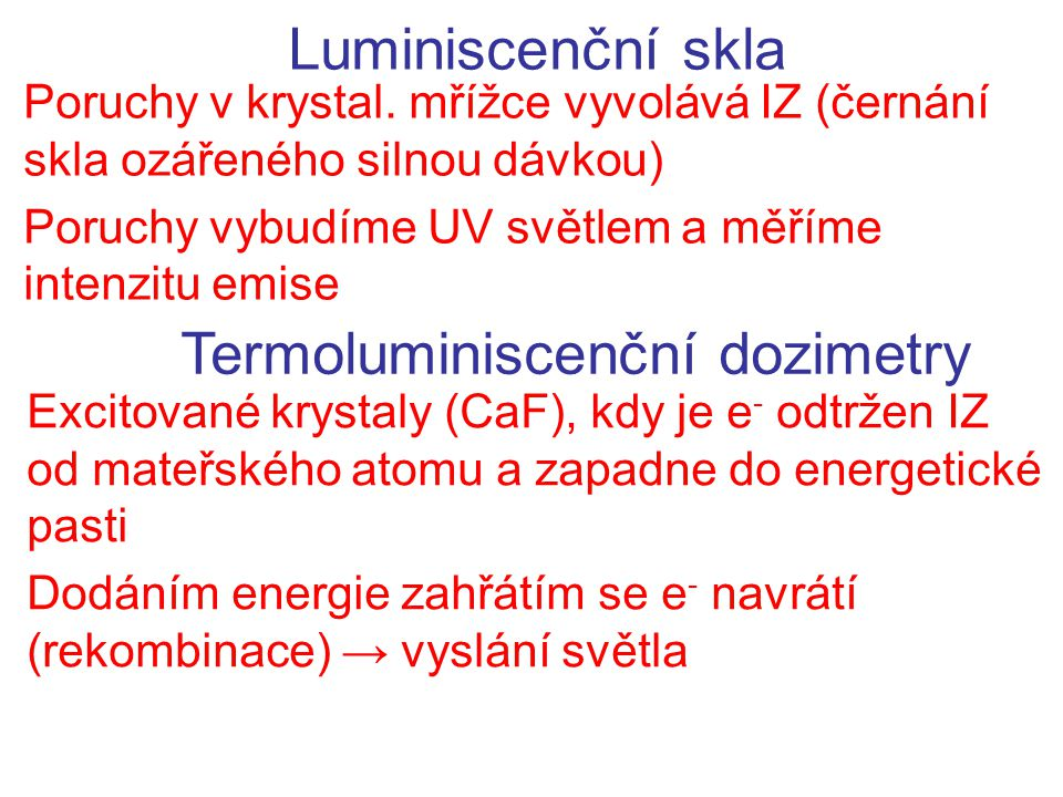 Termoluminiscenční dozimetry