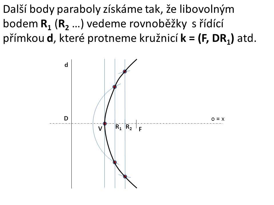 přímkou d, které protneme kružnicí k = (F, DR1) atd.