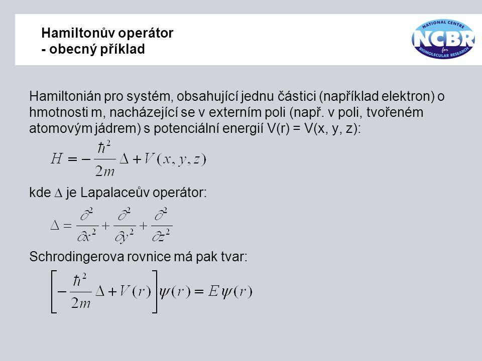 Hamiltonův operátor - obecný příklad