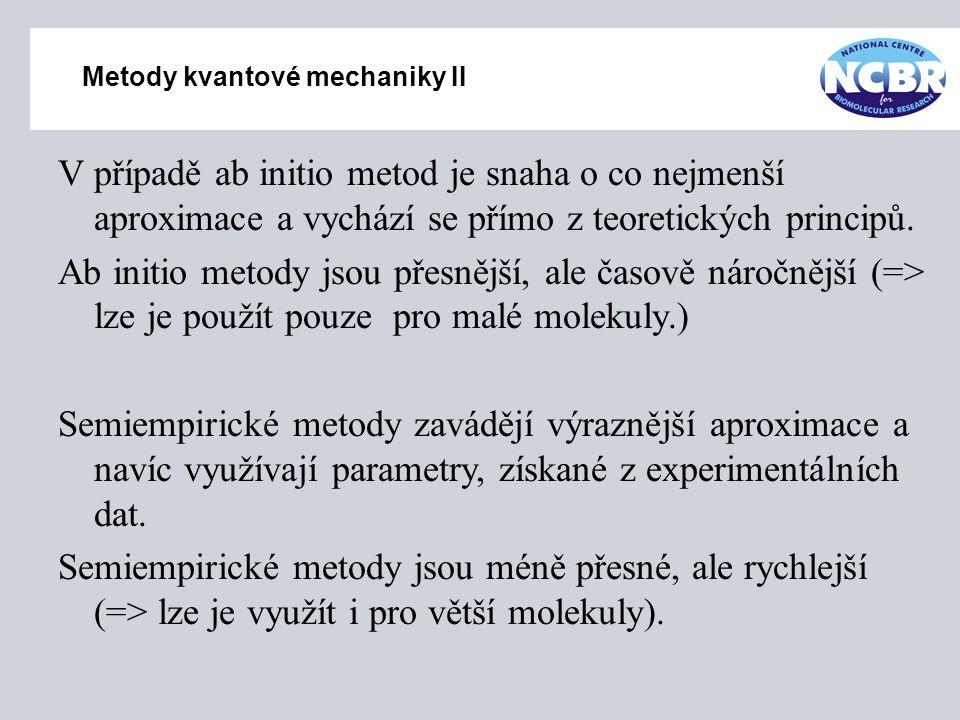 Metody kvantové mechaniky II