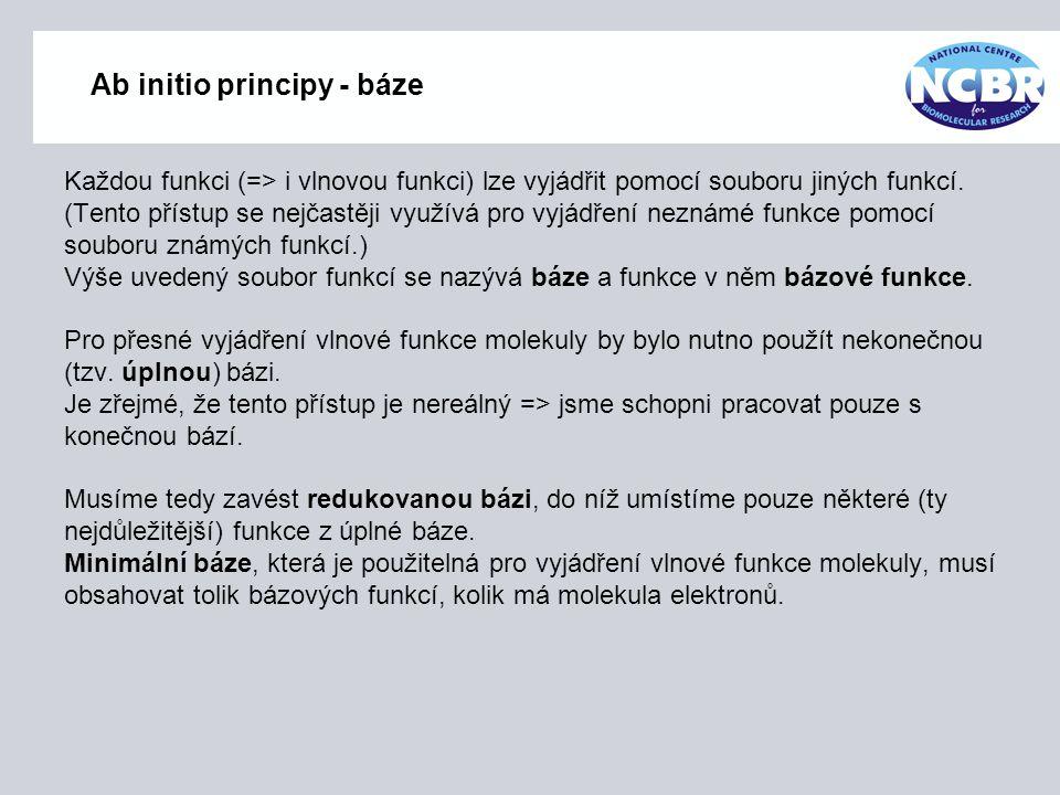 Ab initio principy - báze