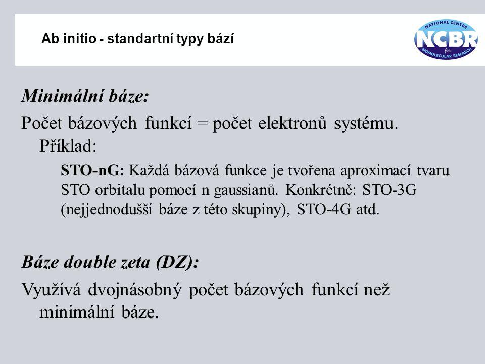 Ab initio - standartní typy bází
