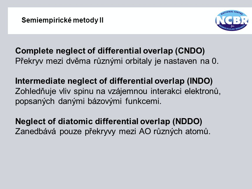 Semiempirické metody II