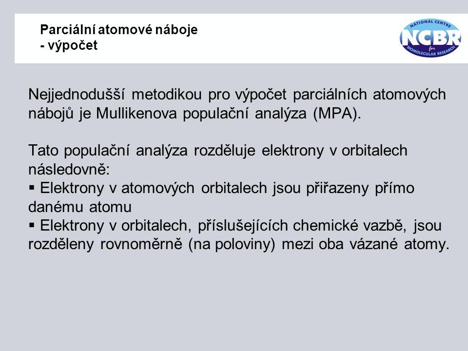 Parciální atomové náboje - výpočet