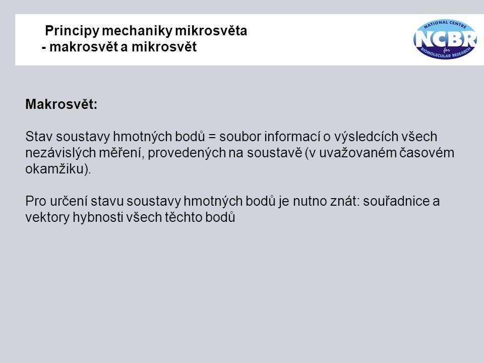 Principy mechaniky mikrosvěta - makrosvět a mikrosvět