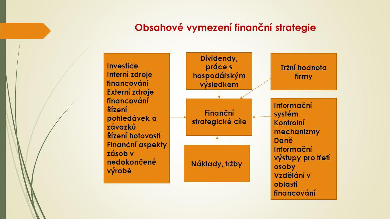 Obsahové vymezení finanční strategie