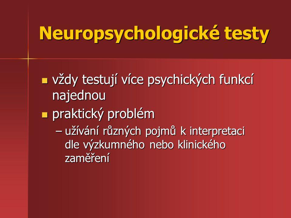 Neuropsychologické testy