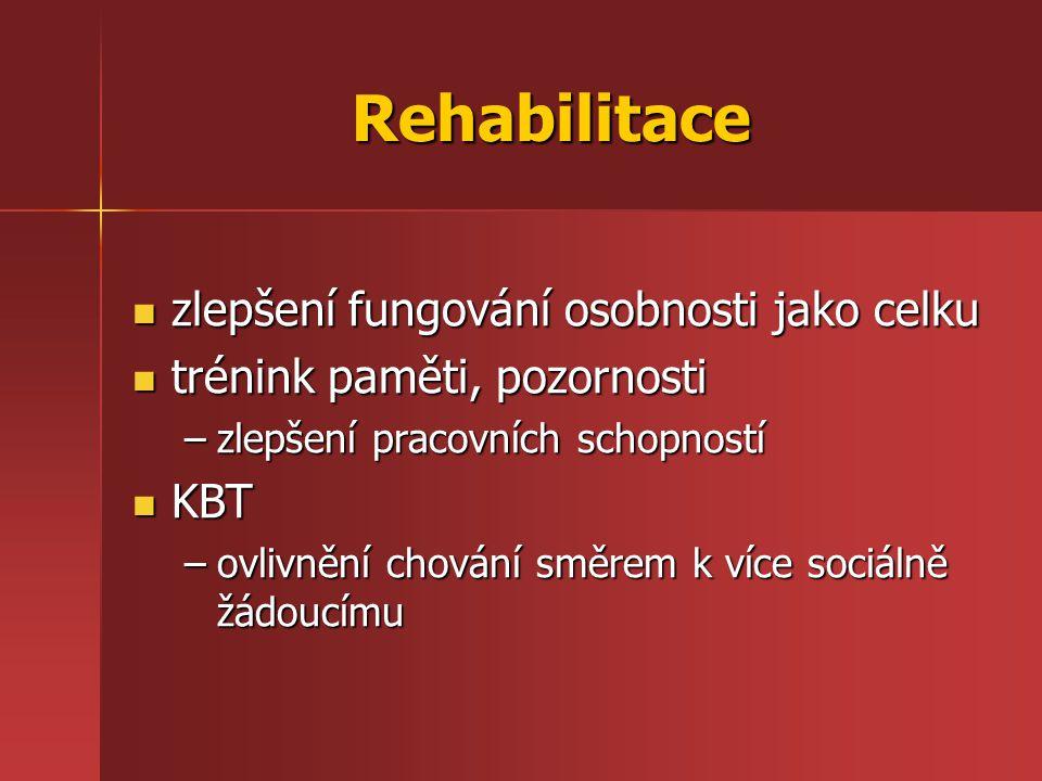 Rehabilitace zlepšení fungování osobnosti jako celku