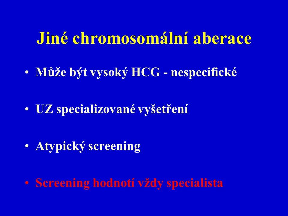 Jiné chromosomální aberace