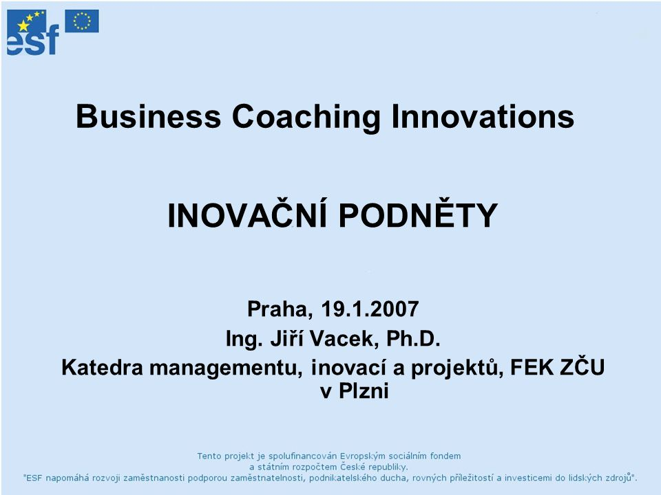 Business Coaching Innovations