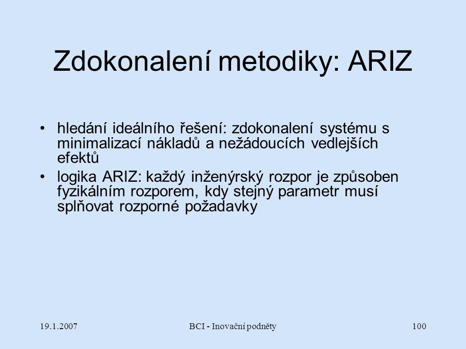 Zdokonalení metodiky: ARIZ
