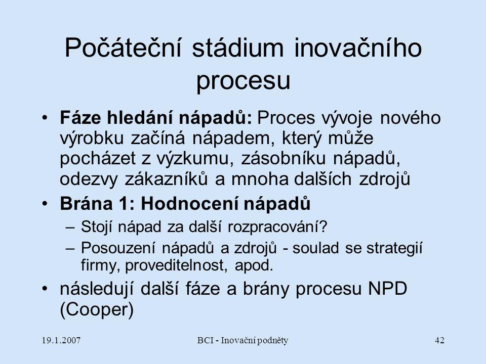 Počáteční stádium inovačního procesu