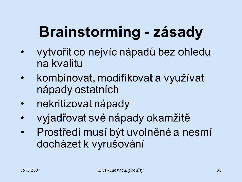 Brainstorming - zásady