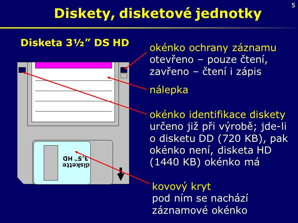 Diskety, disketové jednotky