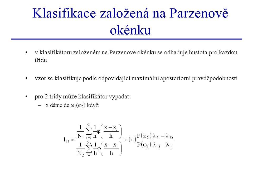 Klasifikace založená na Parzenově okénku
