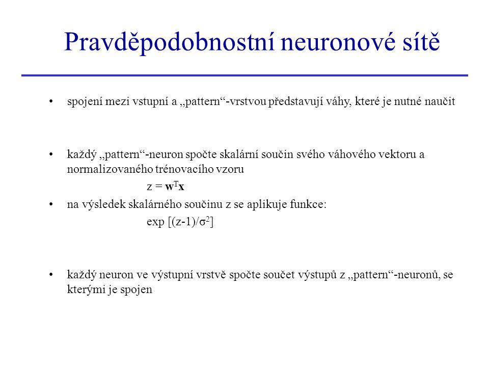 Pravděpodobnostní neuronové sítě