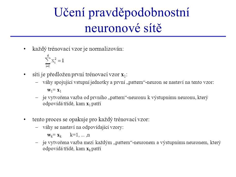 Učení pravděpodobnostní neuronové sítě