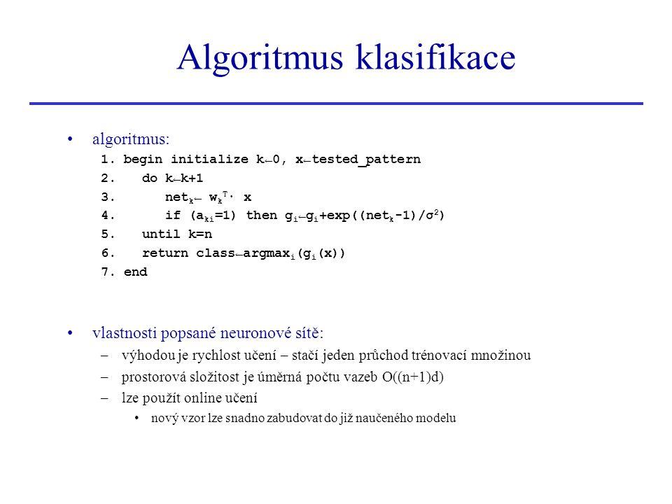 Algoritmus klasifikace