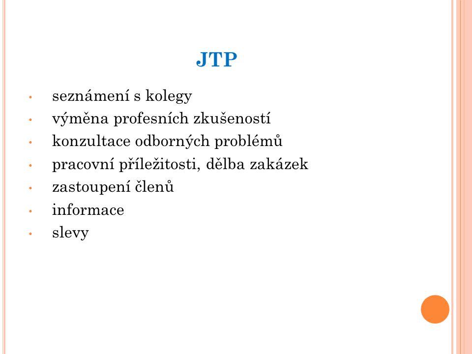 JTP seznámení s kolegy výměna profesních zkušeností