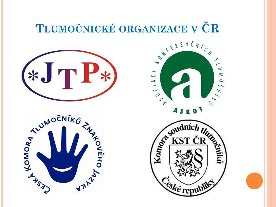 Tlumočnické organizace v ČR