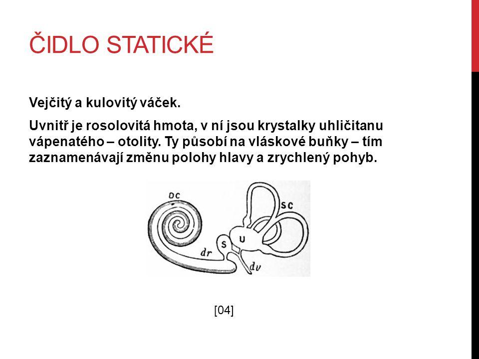 Čidlo statické