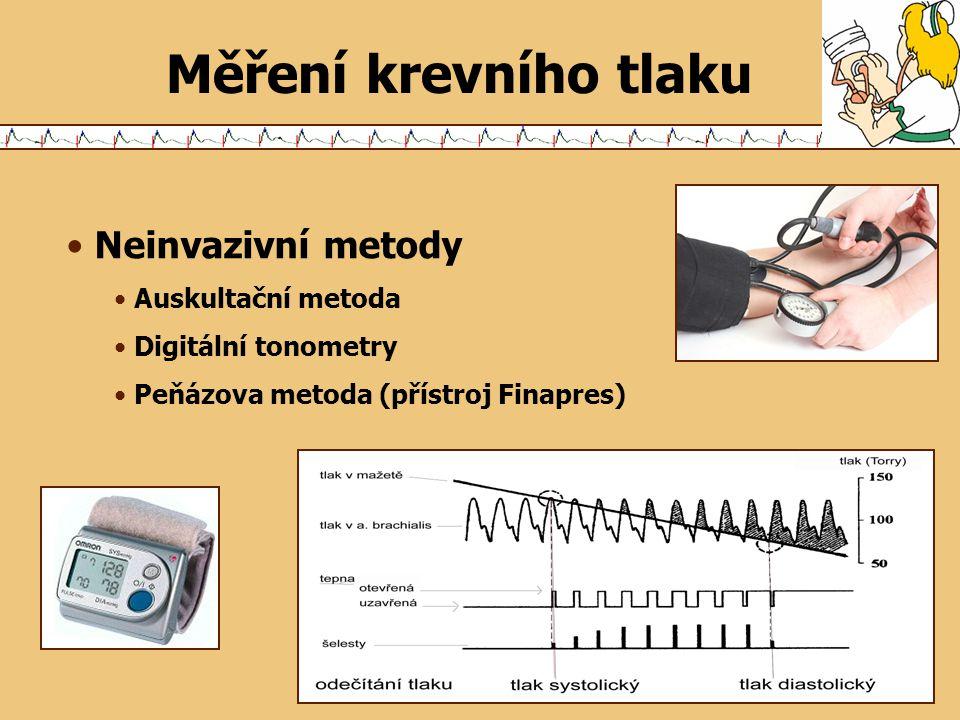 Měření krevního tlaku Neinvazivní metody Auskultační metoda