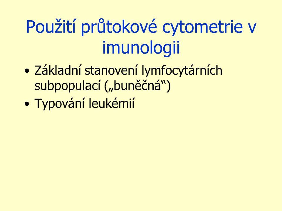 Použití průtokové cytometrie v imunologii