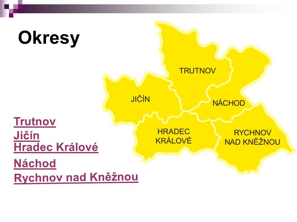Okresy Trutnov Jičín Hradec Králové Náchod Rychnov nad Kněžnou