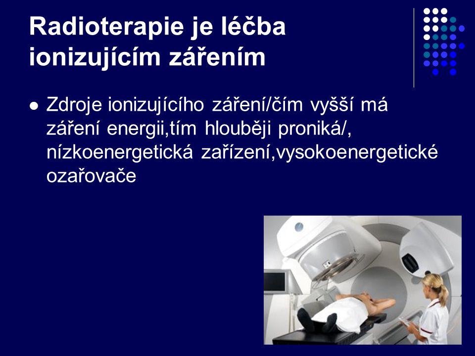 Radioterapie je léčba ionizujícím zářením