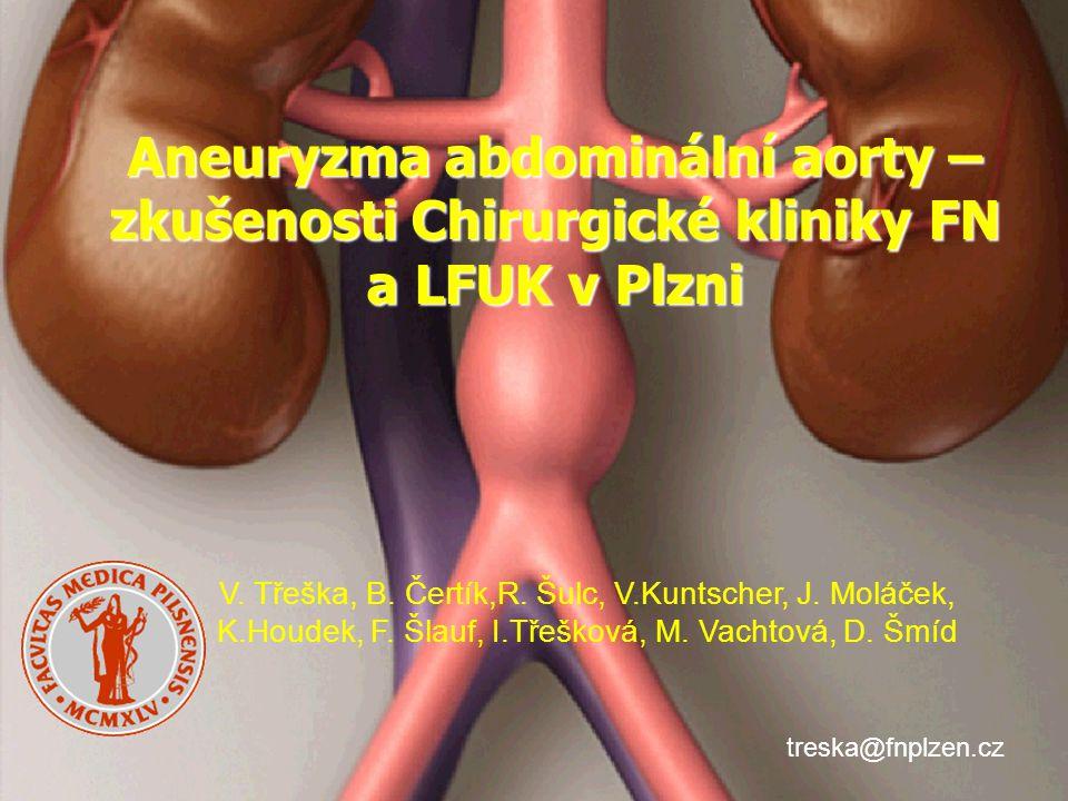 Aneuryzma abdominální aorty – zkušenosti Chirurgické kliniky FN