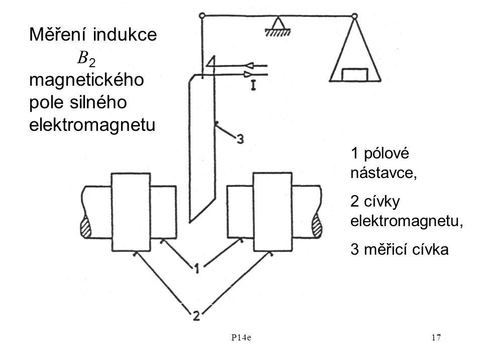 Měření indukce B2 magnetického pole silného elektromagnetu