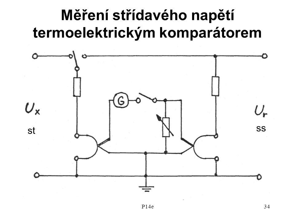Měření střídavého napětí termoelektrickým komparátorem
