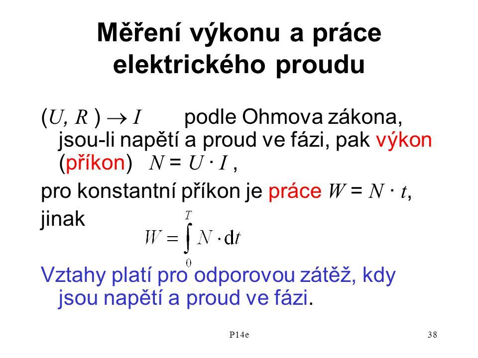 Měření výkonu a práce elektrického proudu