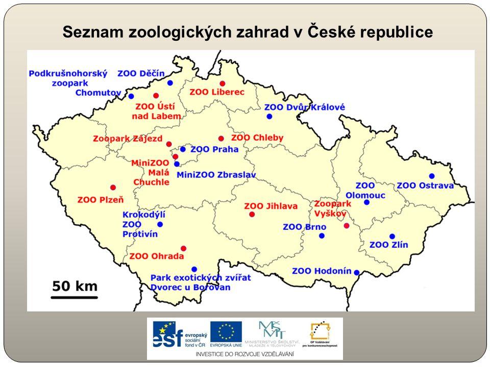 Seznam zoologických zahrad v České republice