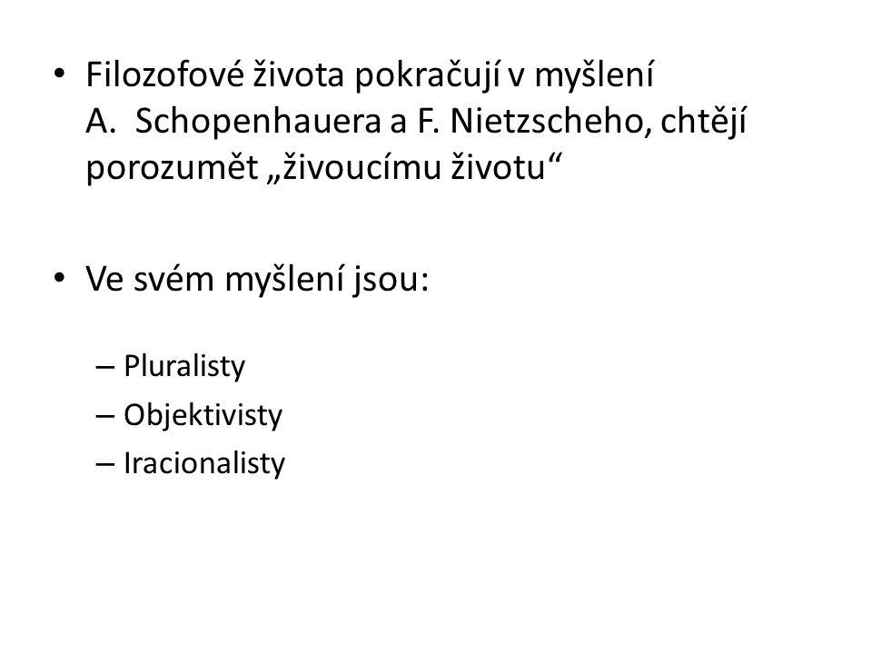 Filozofové života pokračují v myšlení A. Schopenhauera a F